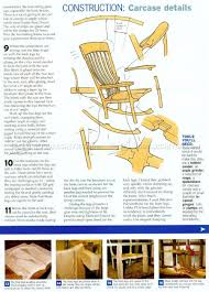 478 Classic Rocking Chair Plans - Furniture Plans ...