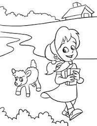 Nursery Rhymes Coloring Pages Baby SitingLamb