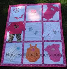 finished baby clothes quilts