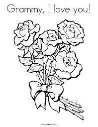Grammy I Love You Coloring Page