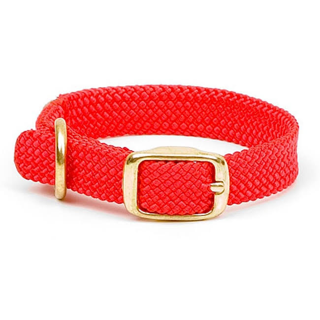 "Mendota Double Braid Dog Collar, 24"", Red"