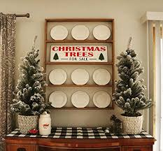 Fixer Upper Christmas Trees For Sale Wood Sign Rustic Weathered Hand