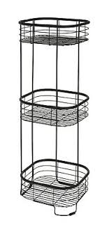 badezimmerregal regal schwarz metall bad metallregal badezimmer standregal 66 cm ebay
