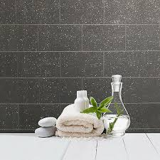 küche und badezimmer schwarz glitzer fliesen tapete