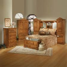 Oak Bedroom Furniture Brown Laminate Armoire Modern Dresser Designs Double Drawer Nightstands