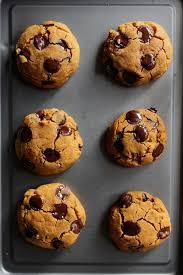 Healthy Chocolate Pumpkin Desserts by Vegan Chocolate Chip Pumpkin Cookies A Saucy Kitchen