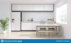 Modern White Kitchen Interior 3d Rendering Stockfoto Und Clean Room Kitchen Interior Cooking Modern Food Restaurant