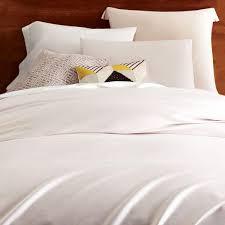 TENCEL Duvet Cover Pillowcases Stone White West Elm UK