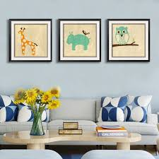 Cartoon Cute Animals Canvas Paintings Nursery Wall Art Posters And Prints Pop Toddler Pictures For Kids
