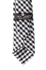 Black & White Gingham Tie Baby Toddler Boy & Little Boy by Troy