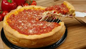 rezept chicago style dish stuffed pizza i pizza backen im chicago style