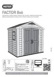 Keter Manor Shed Grey by Factor Large Resin Outdoor Storage Shed 8x6 Taupe Beige Keter