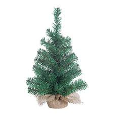 Small Christmas Tree Indoor Gerson Tabletop 18 Inch Pine With Burlap Base Miniature Artificial Green