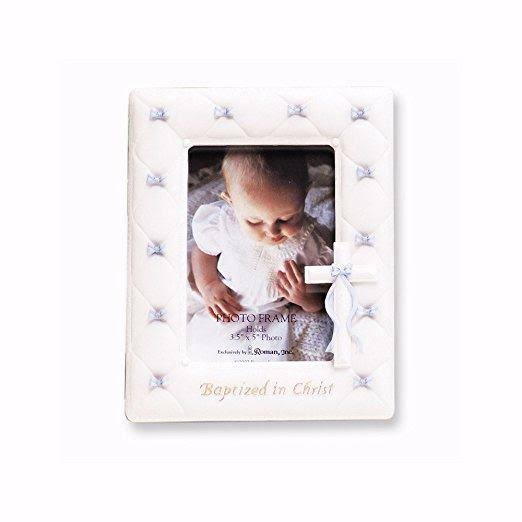 Roman Inc Baptism Photo Frame - Boy Blue, 7""