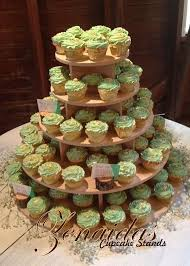 Cupcake Stand 5 Tier 150 Cupcakes Threaded Rod and Freestanding