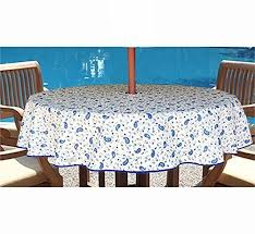 Outdoor Tablecloth With Umbrella Hole Uk by Patio Tablecloth With Umbrella Hole Outdoor Goods