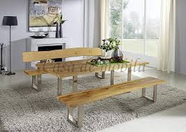 baumtisch erweiterbar 200 260x100 wildeiche massiv vollholz esstisch mit ansteckplatte und metallfuß