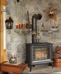 Choose A Stove For Rustic Elegance Wood Stoves Add Elegant Charm To Any Setting But Are Particularly Appropriate In With Lovely Stone Surround