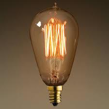 vintage antique light bulb st15 candelabra base