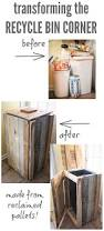 how to build a rustic pallet recycle bin or trash can u2014 the