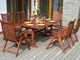 Dining Tables Modern Wood Outdoor Dining Furniture With Arm