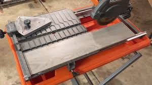 ridgid 7 job site tile saw review youtube