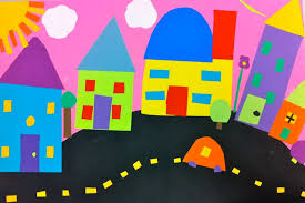 Cut Paper Neighborhood By Sixth Grade