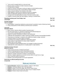 Fashion Designer Resume Samples VisualCV Database