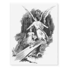 Angel Guarding A Girl Child Temporary Tattoos