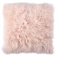 Light Pink Mongolian Fur Pillow