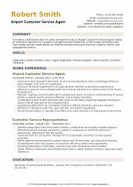 Airport Customer Service Agent Resume Example