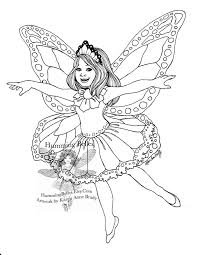Butterfly Fairy Coloring Pages In And