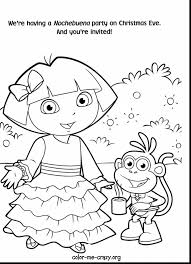 Outstanding Printable Dora Coloring Pages With The Explorer And