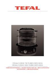 100 Cuisine Steam Tefal 700 1000 Turbo Manual Pasta Cooking
