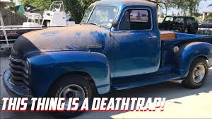 Test Driving A 1951 Chevy Truck! - YouTube