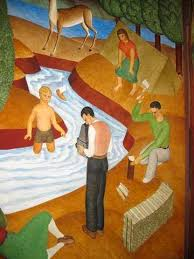 Coit Tower Murals Diego Rivera by Janie Sheppard Ben Cunningham U0027s Coit Tower Mural Revealed The