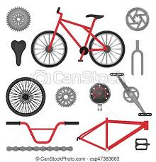 Parts Of BMX Bike Off Road Sport Bicycle Used For Racing