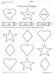 Shapes And Colors Worksheets For Kindergarten The Best Image
