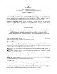 Resume Objective Examples Procurement Plus Maintenance Supervisor High School To Prepare
