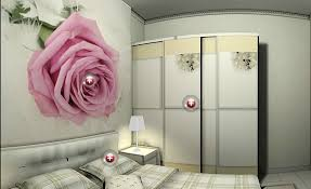 Bedroom Pretty Wall Art Pink Round Plastic Diy Within For