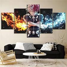 5 stück leinwand gedruckt my academia anime wandbilder wohnkultur wohnzimmer poster fresko poster leinwand
