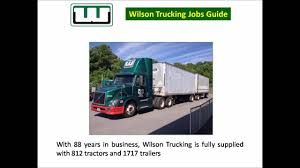 Wilson Trucking Jobs - YouTube Schneider Trucking Driving Jobs Find Truck Driving Jobs Solved Use The Above Adjusted Trial Balance To Ppare Wi Jasko Enterprises Companies Truck Central Oregon Company Home Facebook A Drivers Life Is Risky And Say Its Not Worth The Inland Empire Best Image Kusaboshicom Cfl Trucking Engneeuforicco Volvo Trucks Welcomes Home First Built At New River Industry In United States Wikipedia