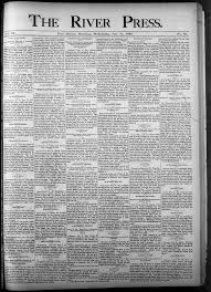 The River Press July 17 1889 Page 1 Image