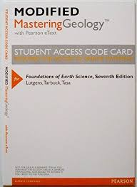 Modified Masteringgeology Pearson Etext By Frederick Lutgens