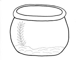 Goldfish Bowl Coloring Sheet Fish Page Printable Pages Intended Encourage Color Free Full Size