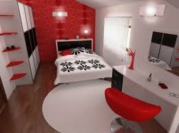 Black White And Red Bedroom Decor New With Painting At