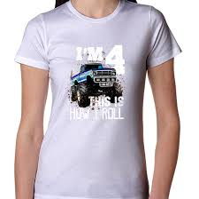 100 Monster Truck Shirts Kids This Is How I Roll 4th Birthday Shirt Boy Gift
