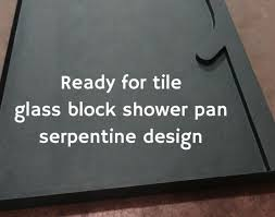 shower glass blocks wall awesome 60 inch shower base how to