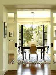 Wall Art For Dining Room Contemporary Transitional Pocket Door With Window Prodigious French Doors
