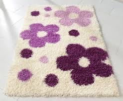 teppich kinderteppich 120x170cm spielteppich blumen weiß lila günstig möbel küchen büromöbel kaufen froschkönig24